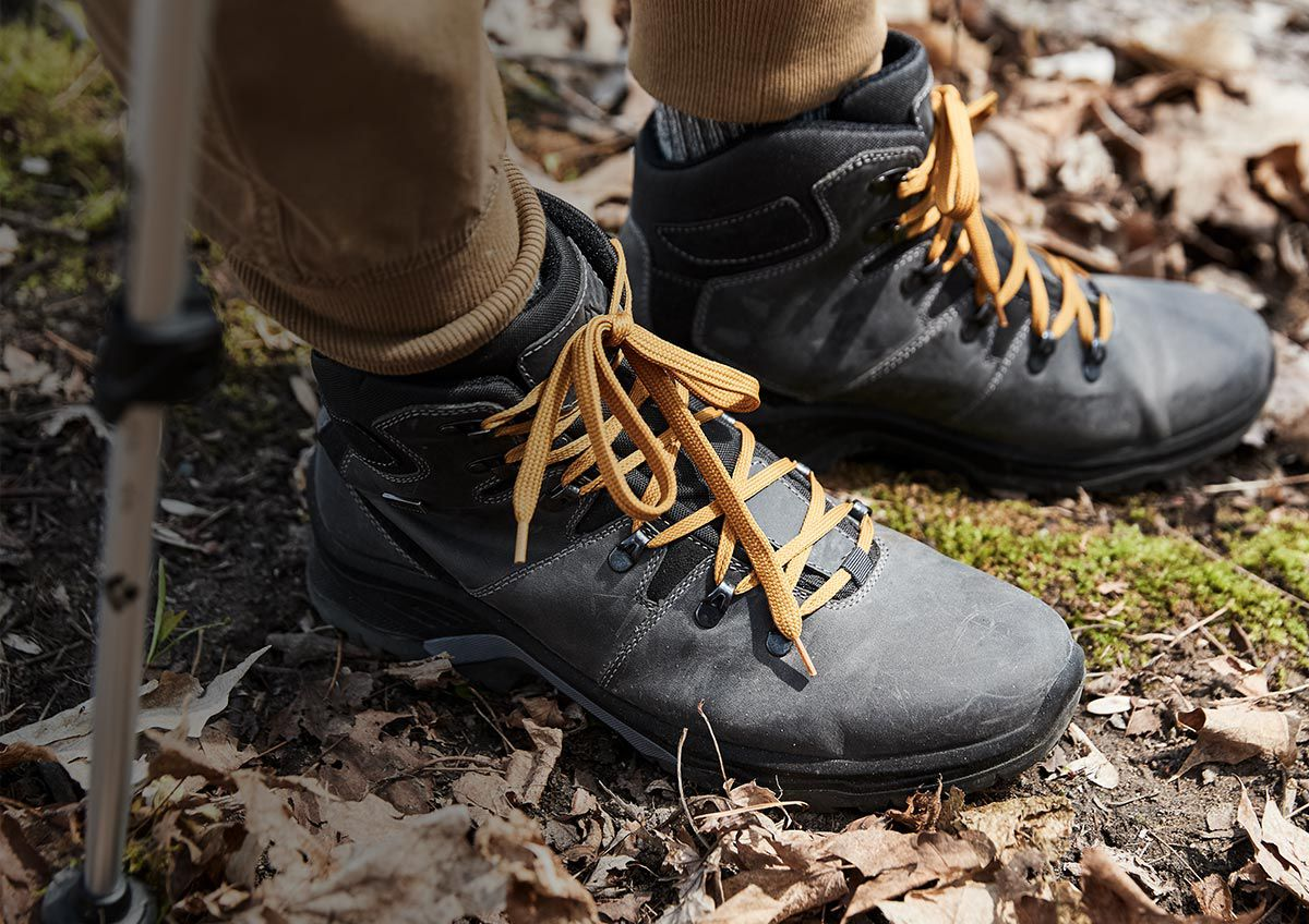 Alpine Design Men's Core Hiker boots on the trail.