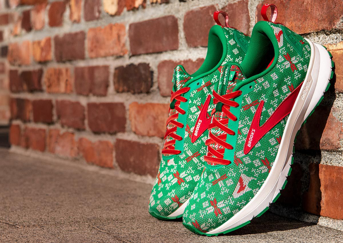 Image features the Brooks Run Merry Revel 4