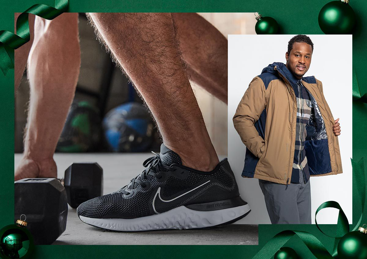 Image shows apparel and footwear for less.