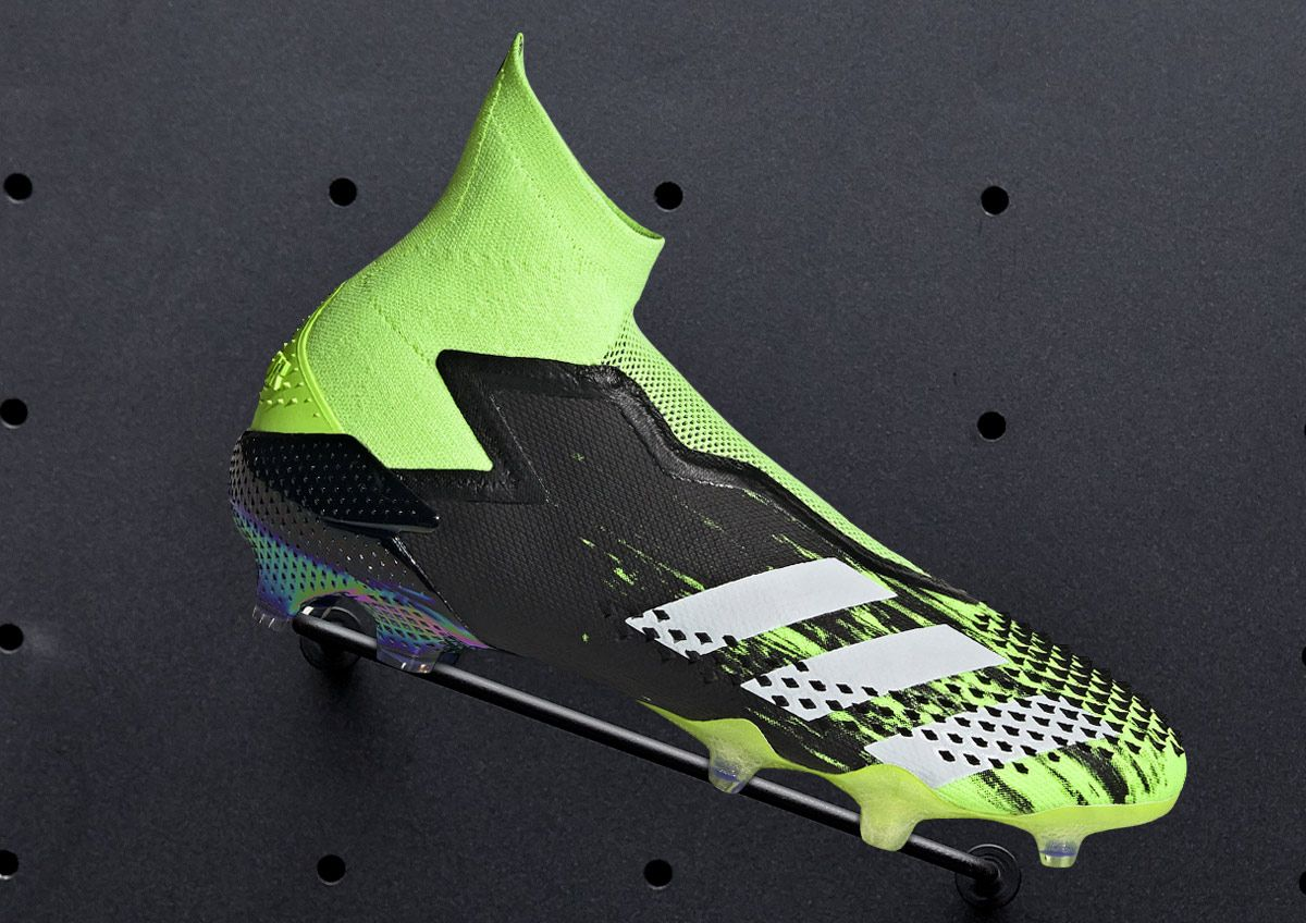 Image features adidas cleats from the Precision to Blur Soccer Pack.