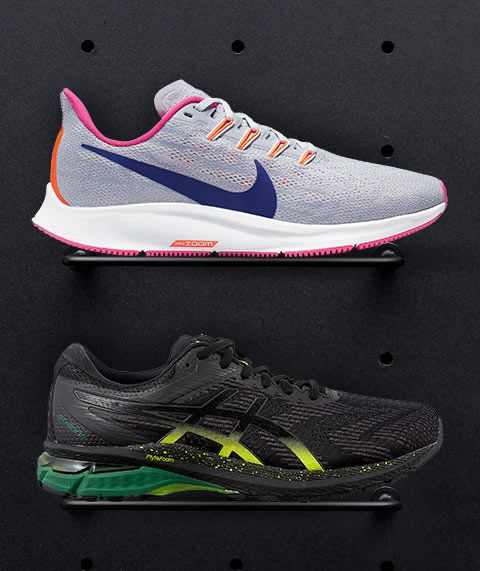 Image features the latest athletic shoes at steep discounts.