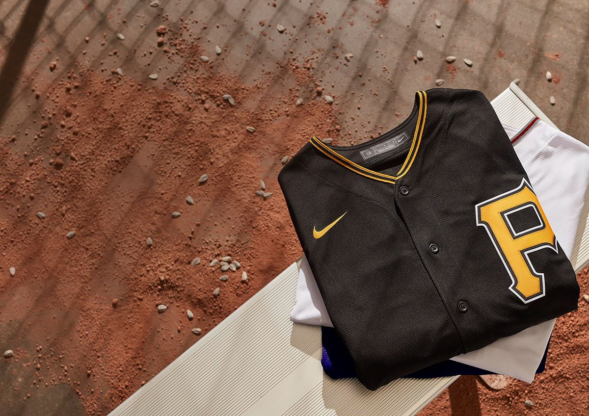 A closeup of Nike's new MLB jersey.