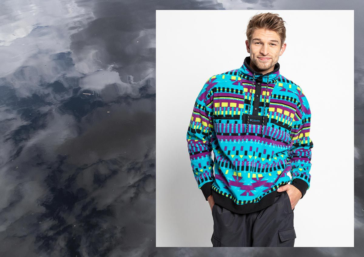 Image features a man wearing Columbia outerwear.