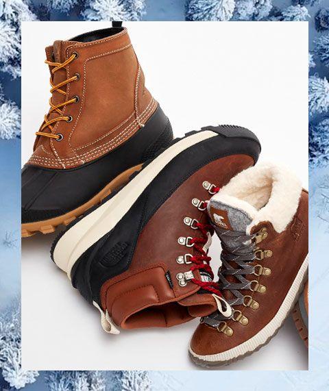 Three winter boot styles.