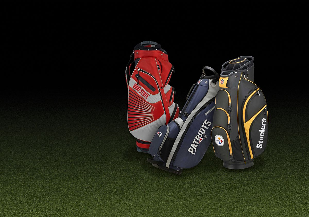 Golf Bags Featuring Ohio State, New England Patriots And Pittsburgh Steelers