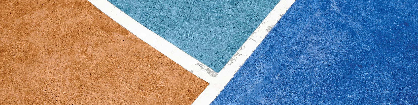 Image shows a close up texture of blue and orange colors.