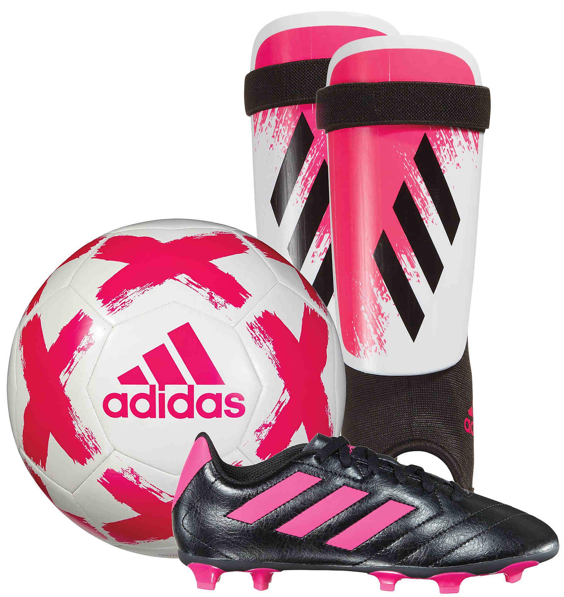 adidas Youth Soccer Starter Kit Pink
