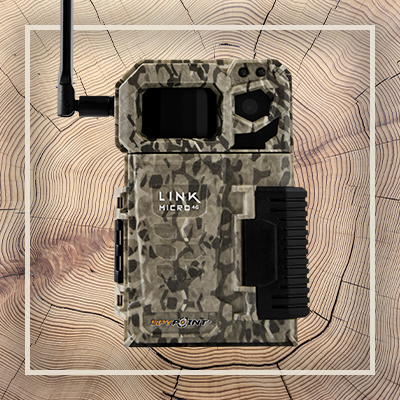 Product image of a SPYPOINT LINK-MICRO 4G-LTE Cellular Trail Camera.
