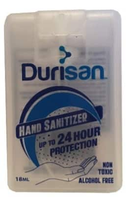 Durisan Hand Sanitizer Up to 24 hour protection non-toxic Alcohol Free